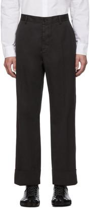 Maison Margiela Grey Garment-Dyed Loose Trousers
