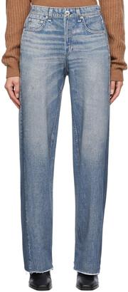 rag & bone Blue Wide-Leg Trompe L'oeil Miramar Jeans