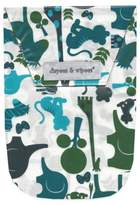 Diapees & Wipees Laminated Storage Bag with Wipes Case in Safari Blue