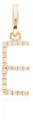 Rosa de la Cruz 18kt gold E diamond charm