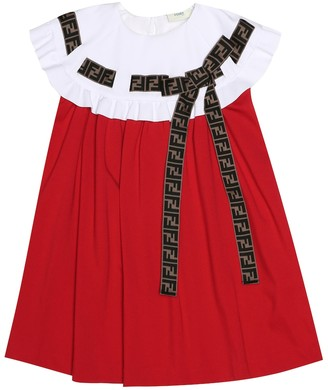 Fendi Kids Embellished jersey dress
