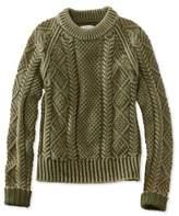 L.L. Bean Signature Cotton Fisherman Sweater, Washed