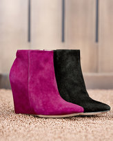Cole Haan Verdi Suede Point-Toe Bootie, Winery