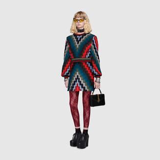 Gucci Multicolour wool knit mini dress