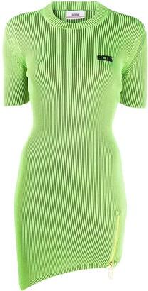 GCDS Logo-Patch Ribbed Mini Dress