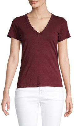 Rag & Bone V-Neck Cotton Tee