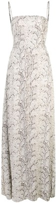 Reformation Ingrid snakeskin print dress