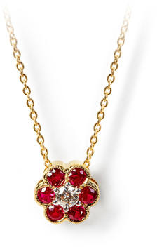 Aspinal of London Athena Cluster Pendant Necklace