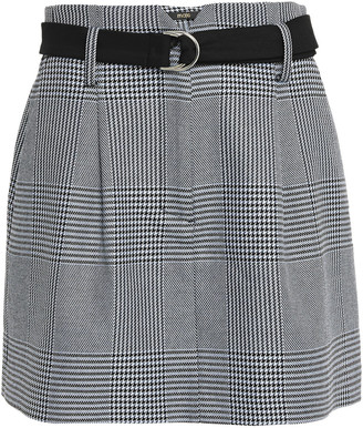 Maje Layered Prince Of Wales Checked Jacquard Shorts