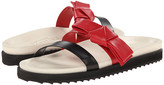 Alexander McQueen Flat Slide Sandal w/ Bow