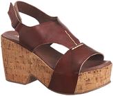 Antelope Chestnut T-Strap Leather Sandal