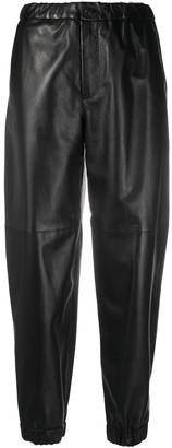 Simonetta Ravizza High-Waisted Leather Trousers