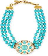 Ashley Pittman Bendi Turquoise & Light Horn Pendant Necklace