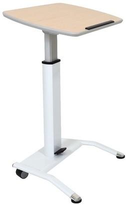 Luxor Pneumatic Adjustable-Height Lectern - Light Wood