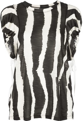 Proenza Schouler Zebra-Print Top