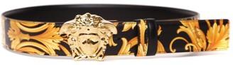 Versace Medusa Buckle Baroque Print Leather Belt