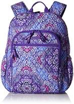 Vera Bradley Women's Campus Tech Backpack, Signature Cotton, Lilac Tapestry