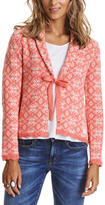 Odd Molly Pale Red Lattice Tie-Front Cardigan