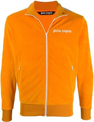 Palm Angels Velvet-Effect Sports Jacket