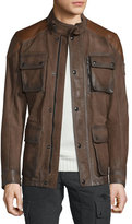 Belstaff Trialmaster Calfskin Leather Jacket, Oak Brown