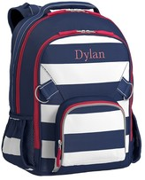 Pottery Barn Kids Large Backpack, Fairfax Stripe Navy/White, No Patch