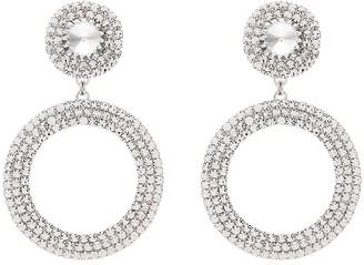 Alessandra Rich embellished drop hoop earrings