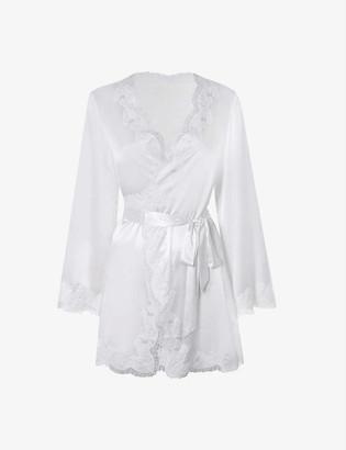 Agent Provocateur Amelea wrap stretch-silk pyjama top