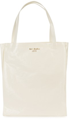 Acne Studios Audrey White Coated Canvas Tote