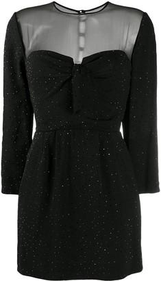 Saint Laurent Short Crystal-Embellished Dress