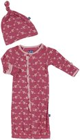 Kickee Pants Print Layette Gown (Baby)-Sailaway Stripe - Girl-6-12 Months