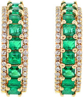 Diana M Fine Jewelry 14K 0.95 Ct. Tw. Diamond & Emerald Earrings