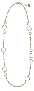 Christian Siriano New York Gold Tone Twisted Circle Link Necklace
