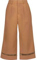 Raoul Open Knit-Trimmed Cotton-Blend Culottes