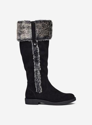 Dorothy Perkins Womens Wide Fit Black 'Terri' Faux Fur Lined Boots, Black