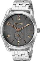 Nixon Men's A9512064 C45 SS Analog Display Swiss Quartz Silver Watch