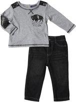 Buffalo Tee & Denim Set (Baby) - Gray/Denim-12 Months