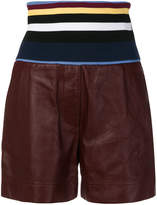 Sportmax striped elastic waist shorts