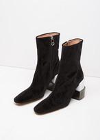 Maison Margiela Line 22 Velvet Block Heel Ankle Boot