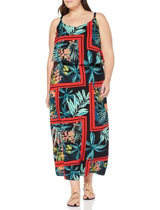 Simply Be Women's Ladies Layered Maxi Dress Multicolour (Tropical 001) 22 UK (50 EU)