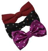 Gift For Halloween Microfiber Stain Pre-Tied Bow Ties For Young 3 Pack Bow Tie Set By Dan Smith
