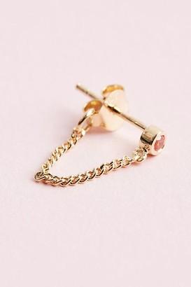 Anna + Nina Single Zirconia Chain Earring
