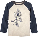 Andy & Evan Big Foot Hockey Player T-Shirt, Size 2-7