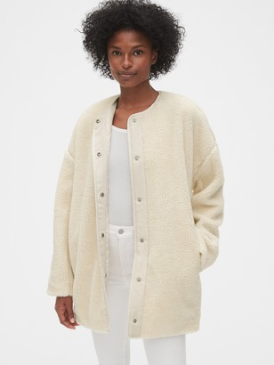 Gap Oversized Teddy Cocoon Jacket