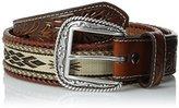 Ariat Men's Ribbon Horse Hair Floral Billet Belt