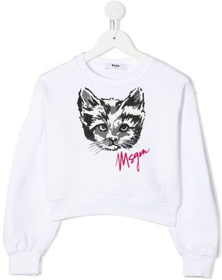 Msgm Kids melted-logo T-shirt