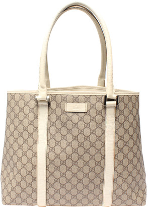 Gucci Grey GG Supreme Canvas Tote Bag