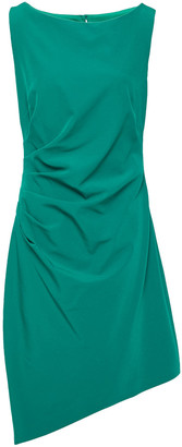 Milly Asymmetric Ruched Cady Dress