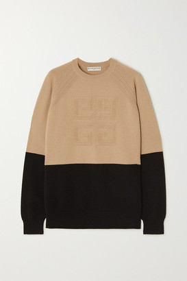 Givenchy Two-tone Cashmere Sweater - Black