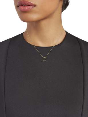 Saks Fifth Avenue East 2 West 14K Yellow Gold Pendant Necklace