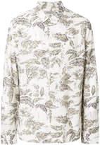 AllSaints leaf print shirt